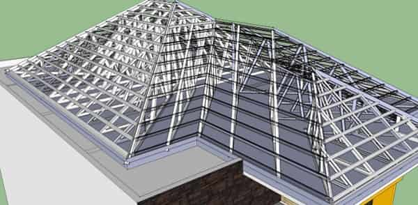 cara menghitung luas rangka atap baja ringan